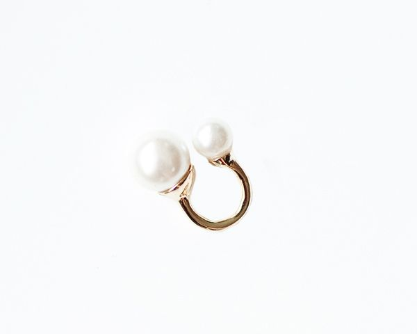 The Haute Pursuit Double Pearl Adjustable Ring