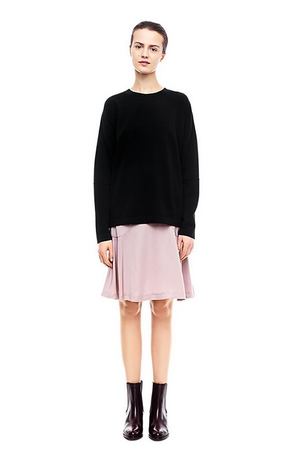 Flippa K Satin Flared Skirt