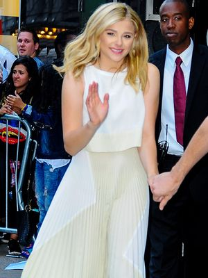 Get The Look: Chloe Grace Moretz is Pleated Perfection in Proenza Schouler