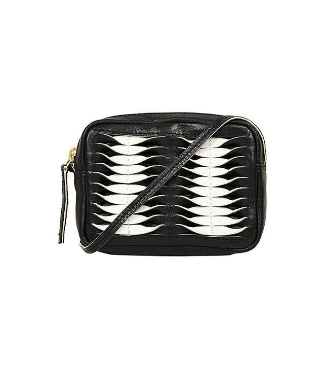 Topshop Mini-Twist Leather Crossbody Bag