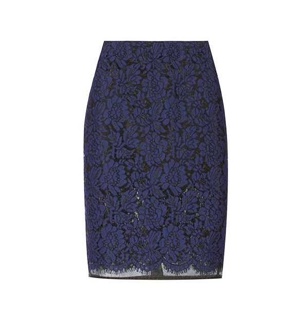 MSGM Lace and Organza Pencil Skirt