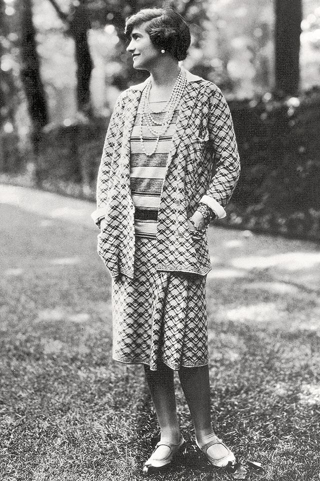 Coco Chanel at her home in Faubourg, St Honore, Paris, 1929