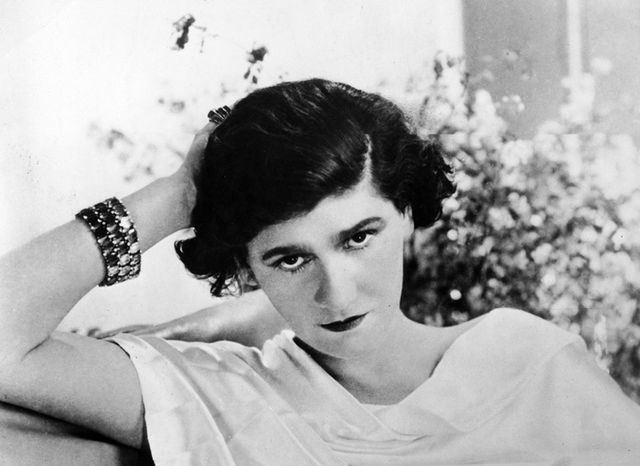 An early, undated photograph of Coco Chanel