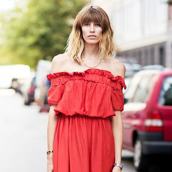 Tip of the Day: Dressing Down an Off-The-Shoulder Frock