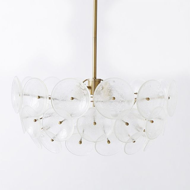 West Elm Glass Disc Chandelier