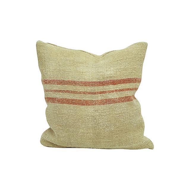 One Kings Lane Grain Sack Pillow