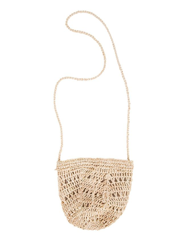 Scoop Straw Mini Pouchette Bag