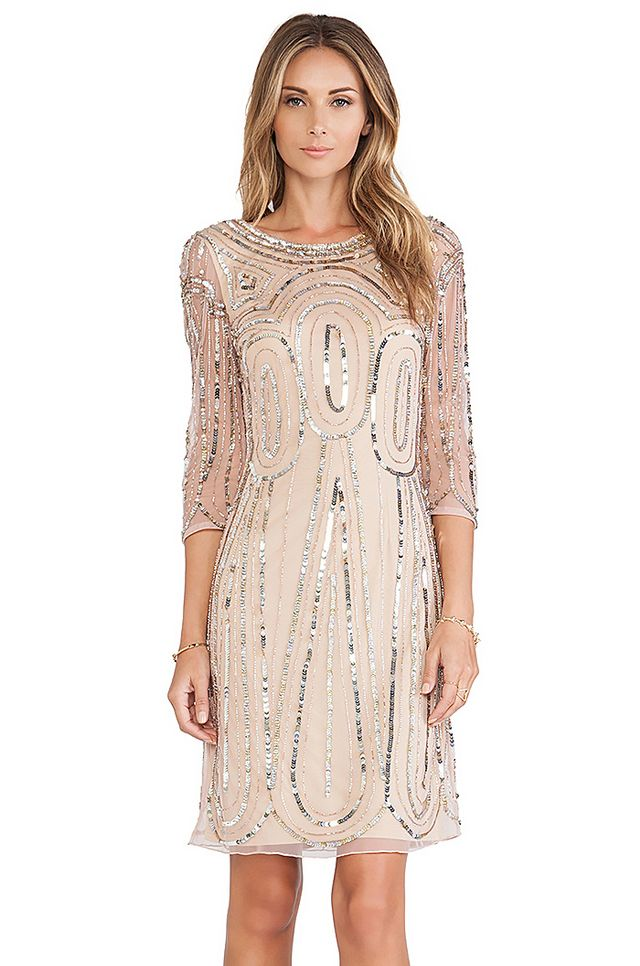 Raga Long-Sleeve Sequin Dress