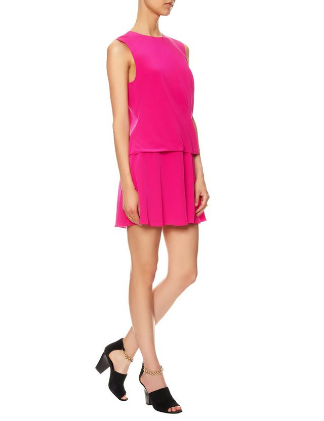 Thakoon Addition Pink Silk Draped Skirt Dress