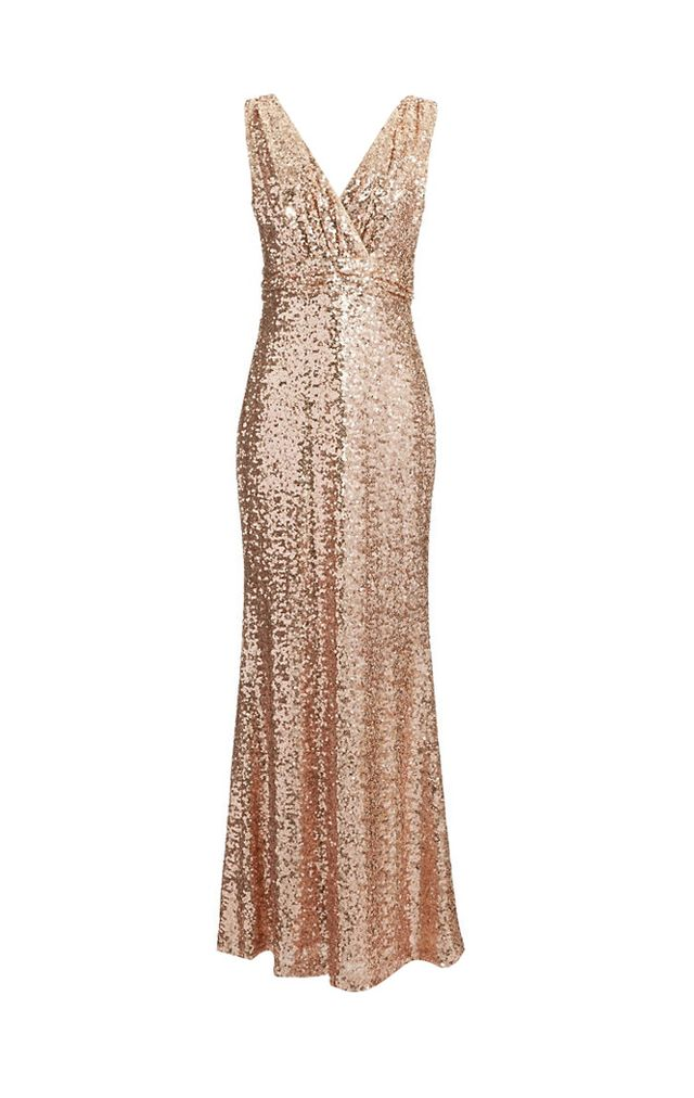 Badgley Mischka Sequin Tank Gown