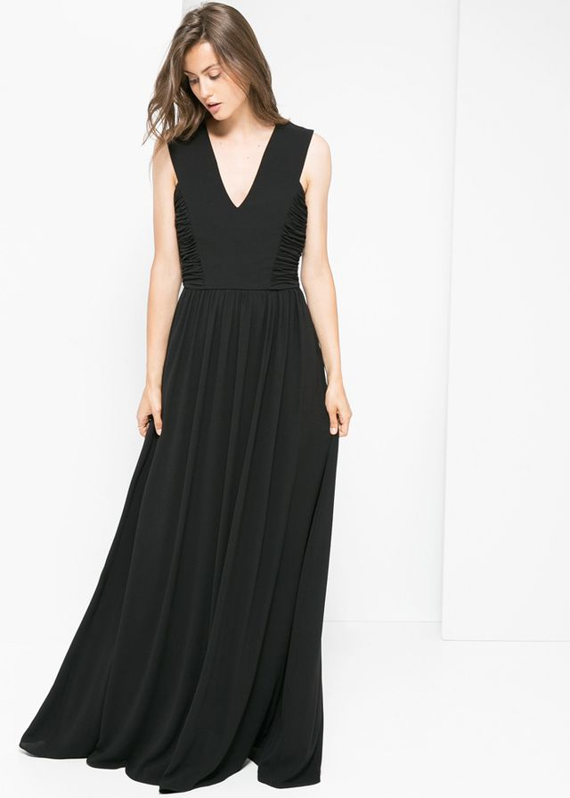 Mango Long Draped Dress