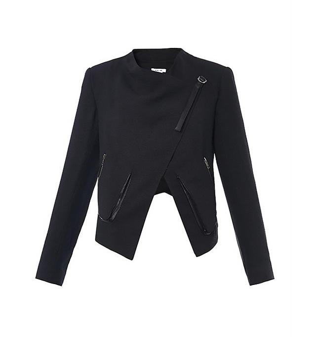 Helmut Lang Sugar Wrap-Front Crepe Jacket