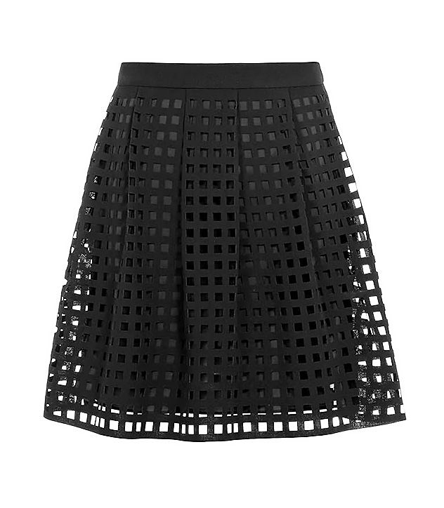 Reiss Kaneo Laser Cut Skirt