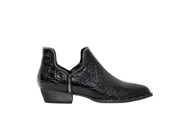 Senso Leather Croc Print Boots