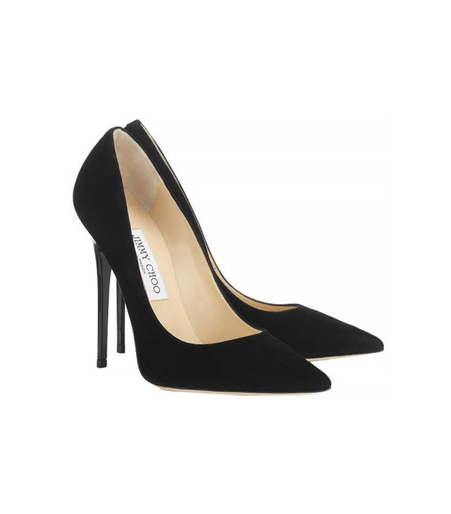 Jimmy Choo Anouk Suede Pointy Toe Pumps