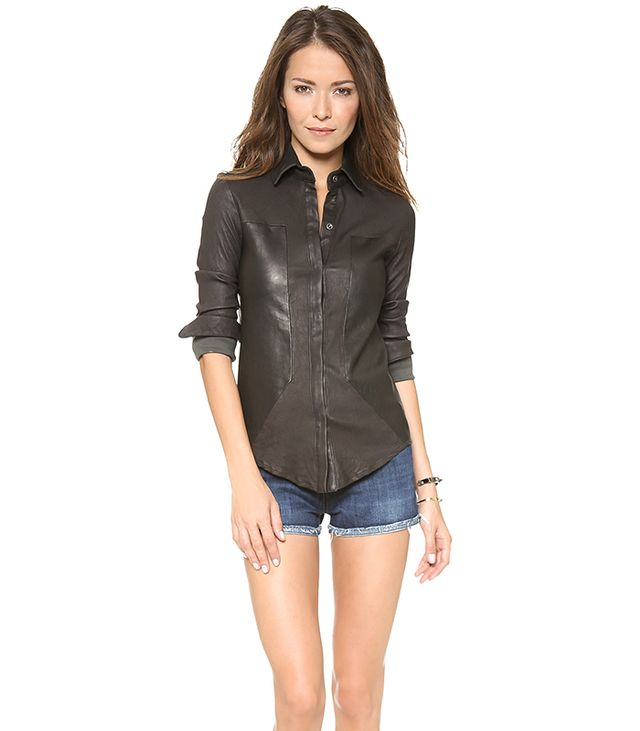 RtA Leather Industrial Shirt