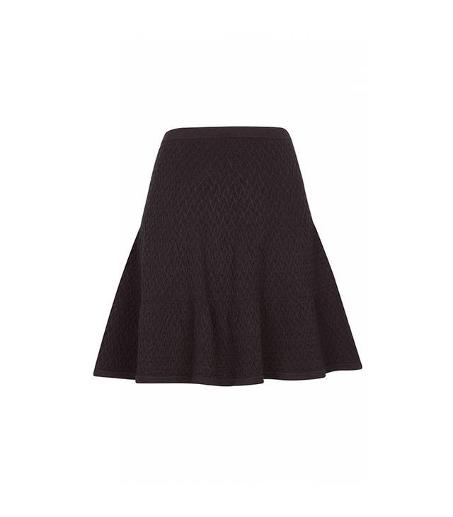 Sandro Jones High Waist Flounce Skirt