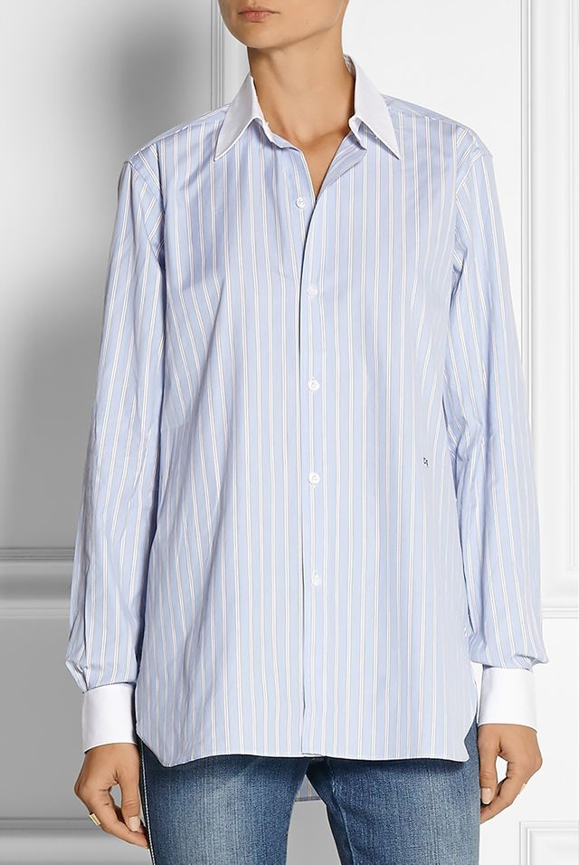 Current/Elliot Charlotte Gainsbourg Butto-Down Striped Shirt