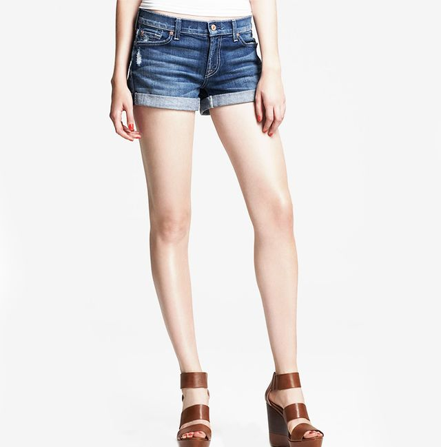 7 For All Mankind Roll-Up Jean Shorts