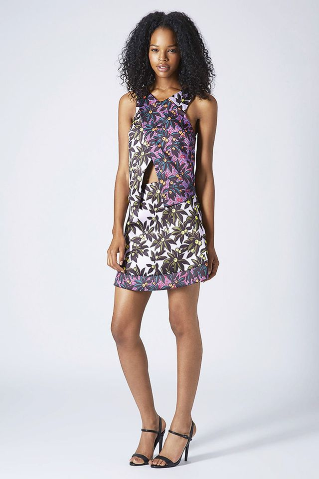 Topshop Berry-Print Matching Set