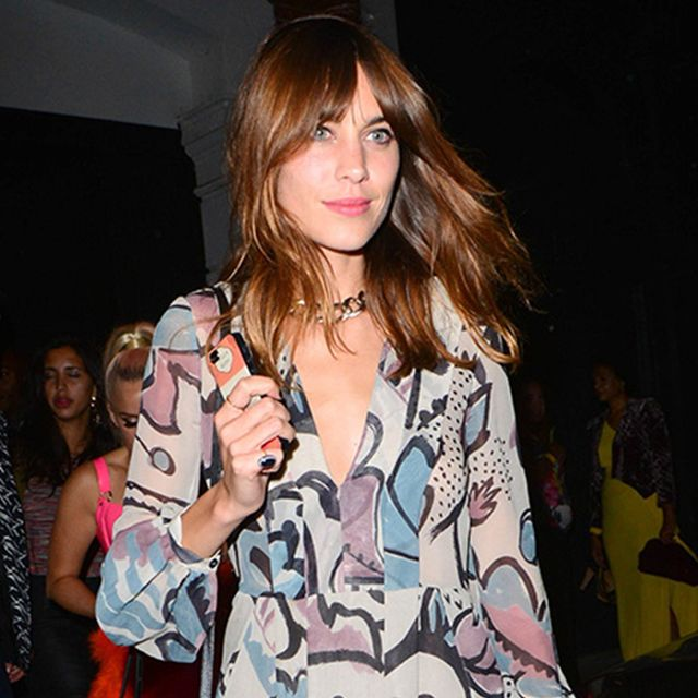 Alexa Chung Shows Some Serious Left Leg In Gorgeous Burberry Dress