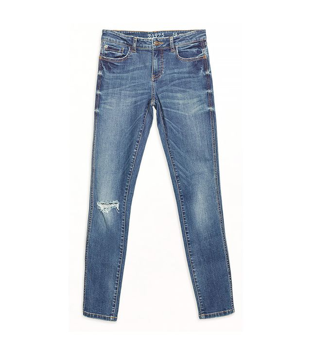 Zara Jeans With Ripped Knee