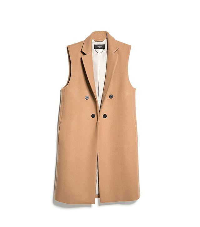 Mango Wool Long Gilet