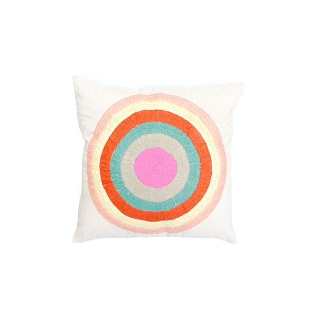 LEIF Striped Circle Pillow Cover