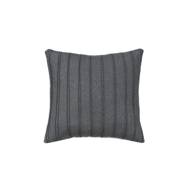 High Street Market Grey Pleated Throw Pillow