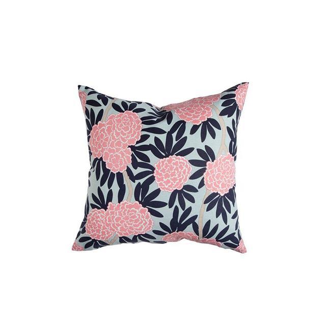 Caitlin Wilson Navy Fleur Chinoise Pillow