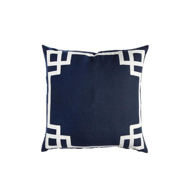Caitlin Wilson Textiles Navy Deco Pillow