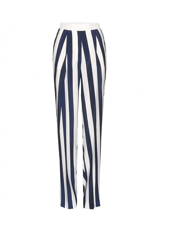 Stella McCartney Wide-Leg Silk Trousers