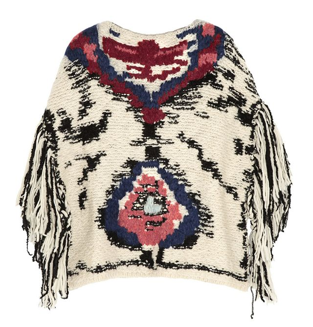 Etoile Isabel Marant Shanon Jacquard-Knit Wool-Blend Poncho
