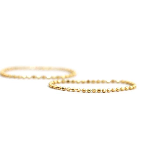 Catbird Tiny Gold Chain Ring