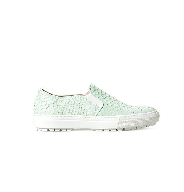 Zara Printed Leather Slip-On Sneakers