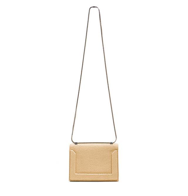 3.1 Phillip Lim Mini Soleil Chain Shoulder Bag in Nougat & Nickel