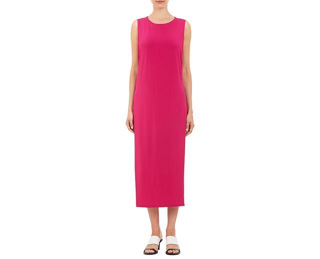 Helmut Lang High Slit Jersey Dress