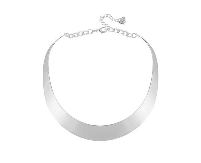 Robert Lee Morris Silver-Tone Half Moon Collar Necklace