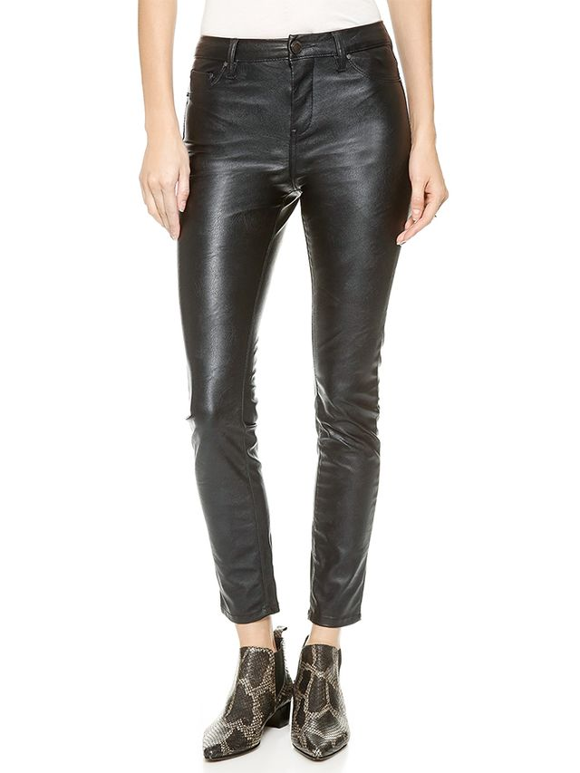 Blank Denim High-Rise Vegan Leather Skinny Pants
