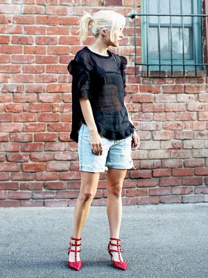How to Sneak Denim Into a Party Outfit