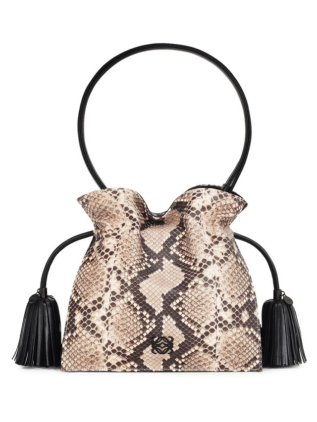 Loewe Flamenco 22 Drawstring Python Bag