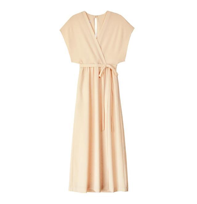 Odylyne Apricot Sparrow Wrap Dress