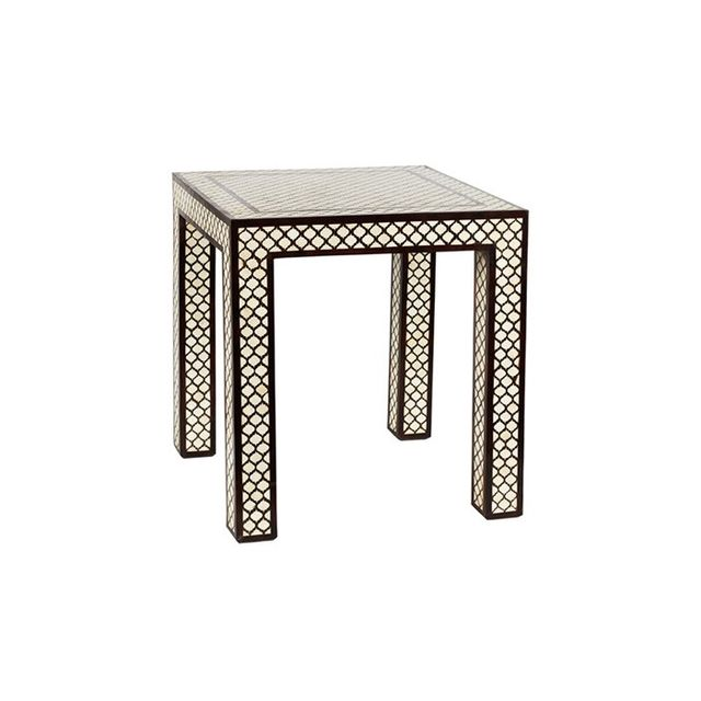 Layla Grayce Mughal Bone Side Table