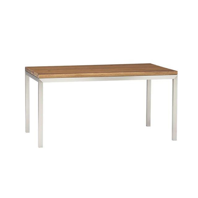 Crate & Barrel Reclaimed Wood and Steel Parsons Dining Table