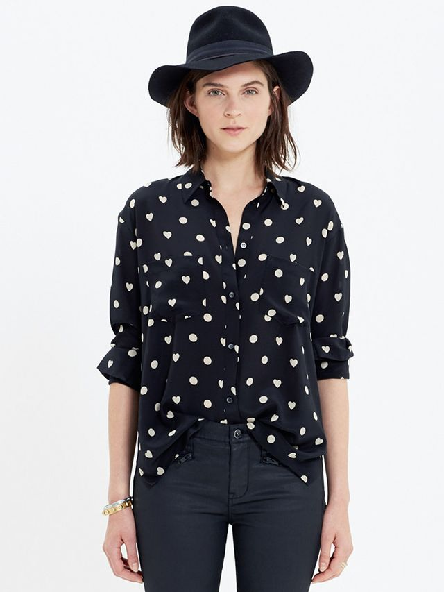 Madewell Silk Spotlight Shirt