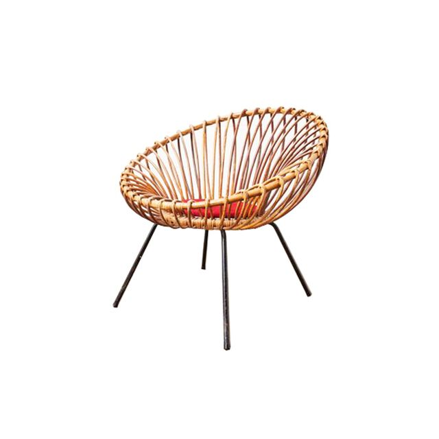 Amsterdam Modern Jacques Adnet Style Woven Hoop Chair