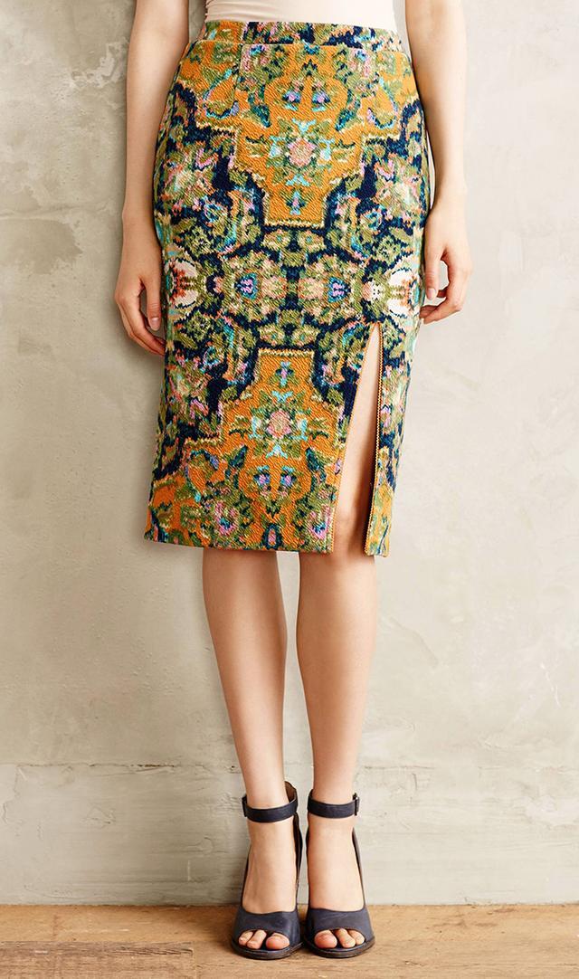Anthropologie Tapestry Pencil Skirt