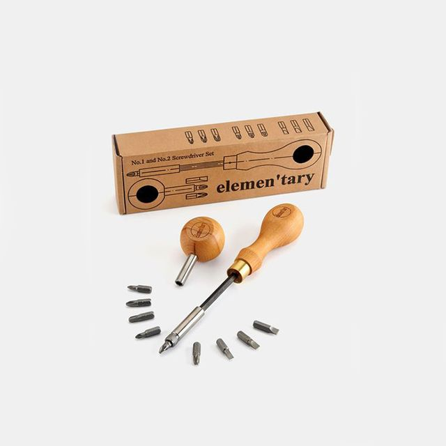 Elementary Design Screwdriver Set With Interchangeable Bits