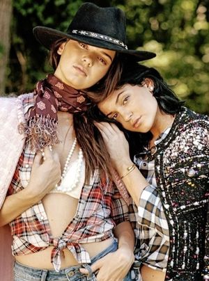Kendall and Kylie Jenner for DuJour by Bruce Weber