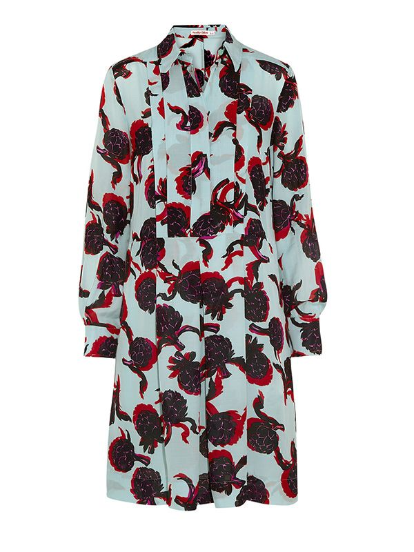 See by Chloe Printed Georgette Shirt Dress